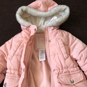 Baby girl Light pink puffer coat